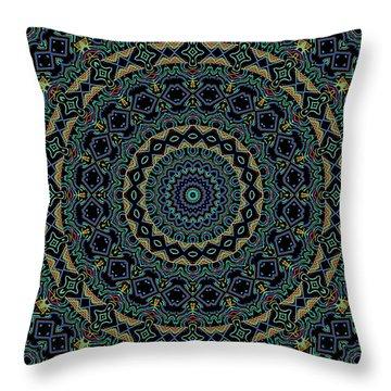 Persian Carpet Throw Pillow by Joy McKenzie