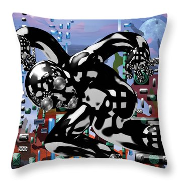 Phantom Throw Pillow by Marko Mitic