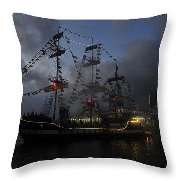 Phantom Ship Throw Pillow by David Lee Thompson