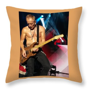 Phil Collen Of Def Leppard 2 Throw Pillow by David Patterson