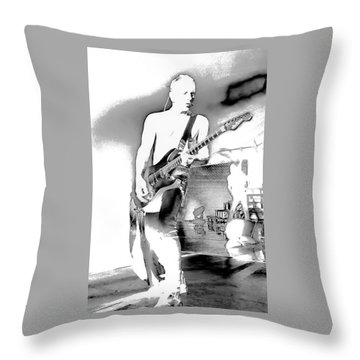 Phil Collen Of Def Leppard Throw Pillow by David Patterson