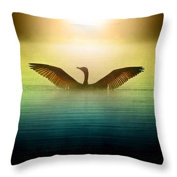 Phoenix Rising Throw Pillow by Rob Blair