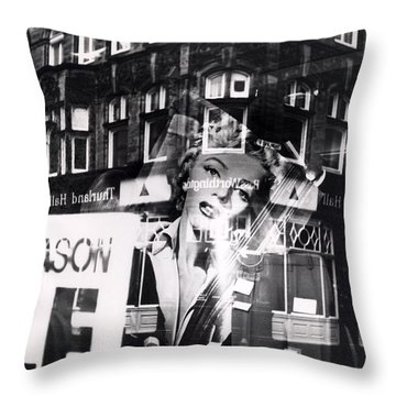 Photograph Of Marilyn Throw Pillow by Charles Stuart