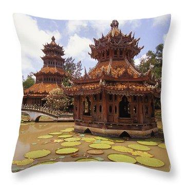 Phra Kaew Pavillion Throw Pillow by Bill Brennan - Printscapes