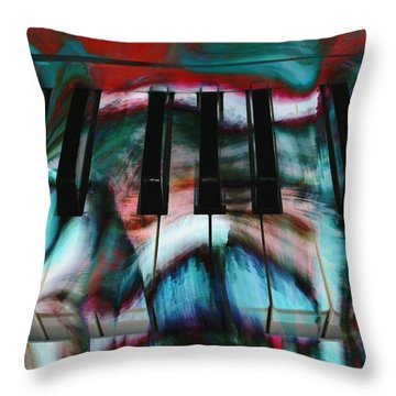 Piano Colors Throw Pillow by Linda Sannuti