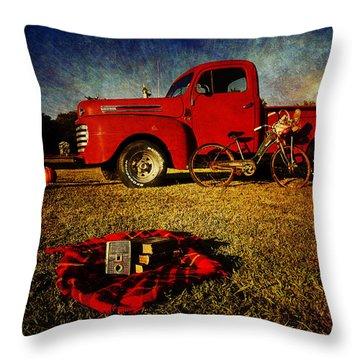 Picnic Time 2 Throw Pillow by Toni Hopper