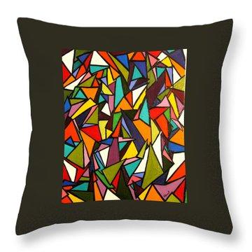 Pieces Throw Pillow by Kerry Bennett