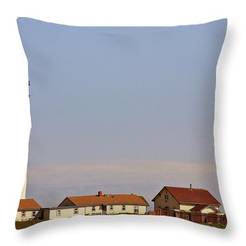 Pigeon Point Lighthouse On California's Pacific Coast Throw Pillow by Christine Till