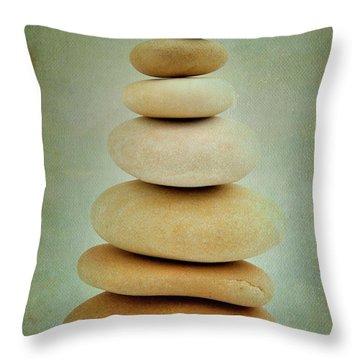 Pile Of Stones Throw Pillow by Bernard Jaubert