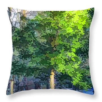 Pine Tree Forest Throw Pillow by Lanjee Chee