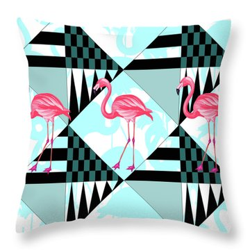 Ping Flamingo Throw Pillow by Mark Ashkenazi