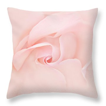 Pink Abstract Rose Flower Throw Pillow by Jennie Marie Schell