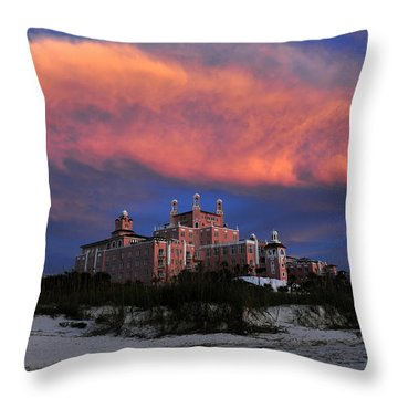 Pink Cloud Throw Pillow by David Lee Thompson