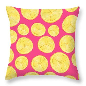 Pink Lemonade Throw Pillow by Allyson Johnson