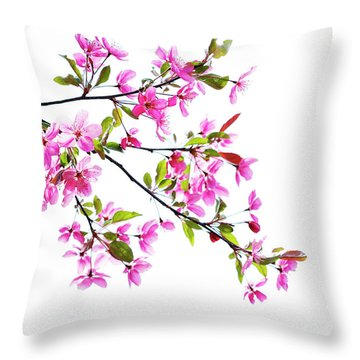 Pink Spring Throw Pillow by Marilyn Hunt