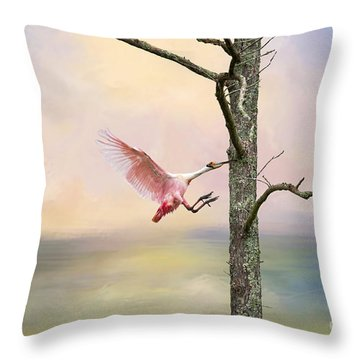 Pink Wonder Throw Pillow by Bonnie Barry