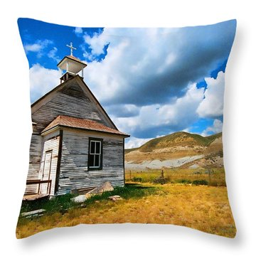 Pioneer Church 1 Throw Pillow by Lawrence Christopher