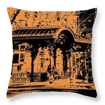 Pioneer Square Pergola Throw Pillow by Tim Allen