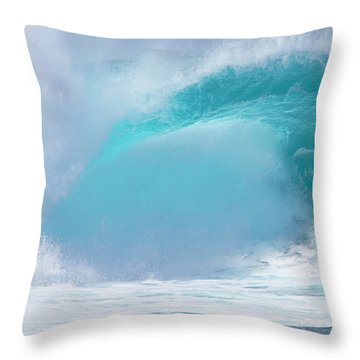 Pipeline First Reef Throw Pillow by Kevin Smith
