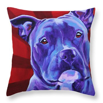 Pit Bull - Shakti Throw Pillow by Alicia VanNoy Call