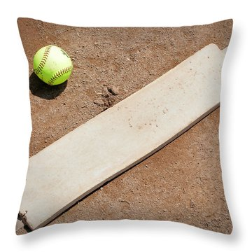 Pitchers Mound Throw Pillow by Kelley King
