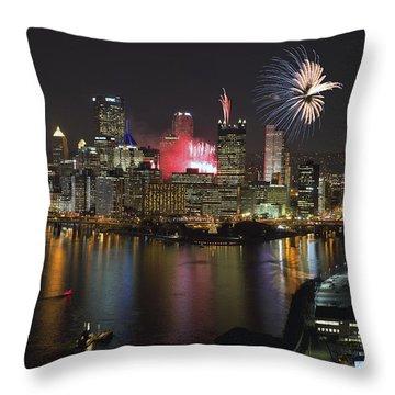 Pittsburgh 3 Throw Pillow by Emmanuel Panagiotakis