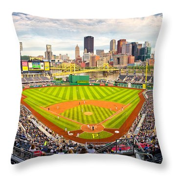 Pittsburgh Pirates  Throw Pillow by Emmanuel Panagiotakis