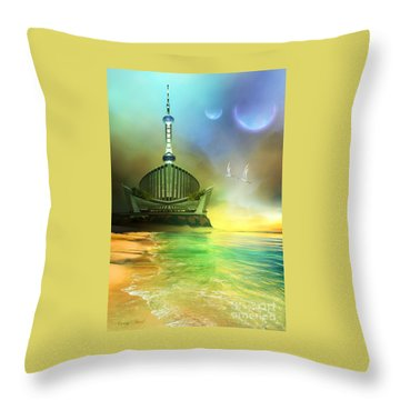 Planet Paladin Throw Pillow by Corey Ford