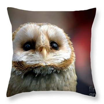Please  Throw Pillow by Jacky Gerritsen