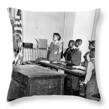 Pledge Of Allegiance, 1958 Throw Pillow by Granger