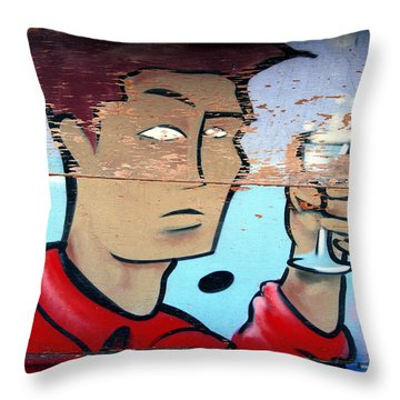 Plywood Boy Throw Pillow by Andrew Fare