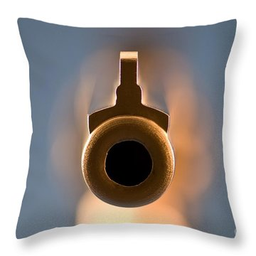 Point Blank Throw Pillow by Charles Dobbs