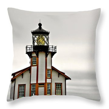 Point Cabrillo Lighthouse California Throw Pillow by Christine Till