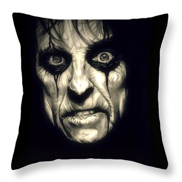 Poison Alice Cooper Throw Pillow by Fred Larucci