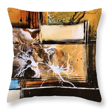 Poker Throw Pillow by Michael Lang