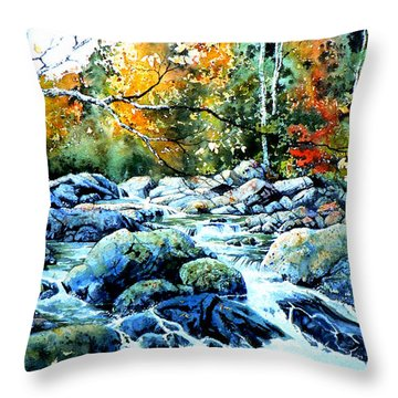 Polliwog Clearing Throw Pillow by Hanne Lore Koehler