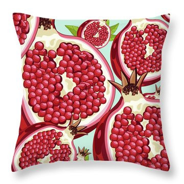 Pomegranate   Throw Pillow by Mark Ashkenazi