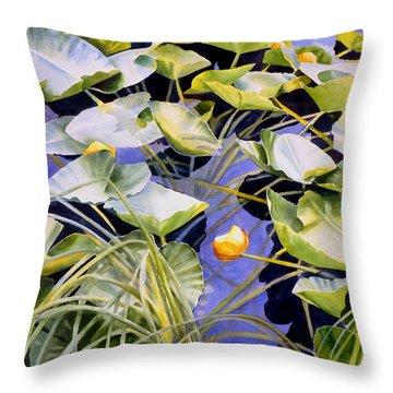 Pond Lilies Throw Pillow by Sharon Freeman
