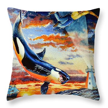 Pooka Hill 12 Throw Pillow by Hanne Lore Koehler