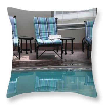 Pool Time Throw Pillow by Lauri Novak