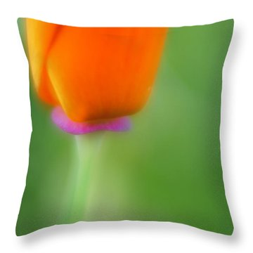 Poppy Flower Throw Pillow by Silke Magino