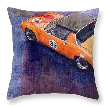 Porsche 914 Gt Throw Pillow by Yuriy  Shevchuk