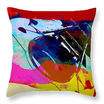 Porsche Watercolor Throw Pillow by Naxart Studio