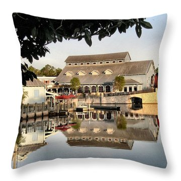 Port Orleans Riverside Throw Pillow by Nora Martinez