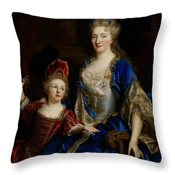 Portrait Of Catherine Coustard Throw Pillow by Nicolas de Largilliere