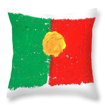 Portuguese Flag Throw Pillow by Gaspar Avila