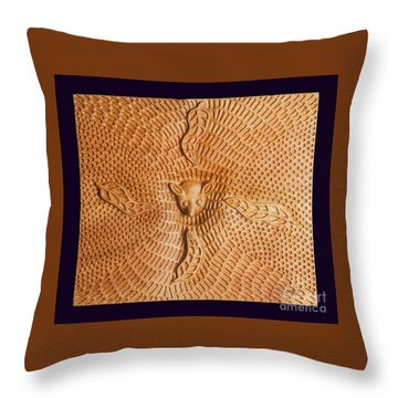Possum And Tree Habitat Throw Pillow by Clifford Madsen
