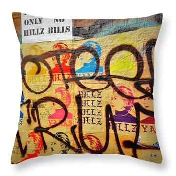 Post No Bills Hillary Clinton  Throw Pillow by Funkpix Photo Hunter