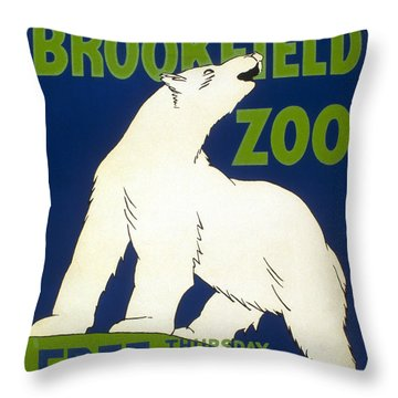Poster For The Brookfield Zoo Throw Pillow by Unknown