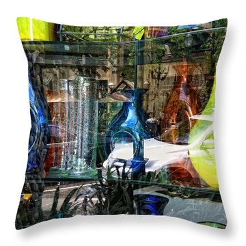 Potential Broken Glass Throw Pillow by Donna Blackhall